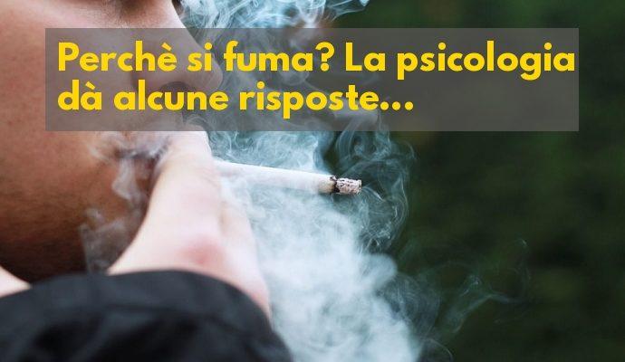 Perché si fuma psicologia