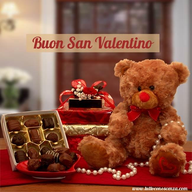 Buon San Valentino Cioccolatini Orso