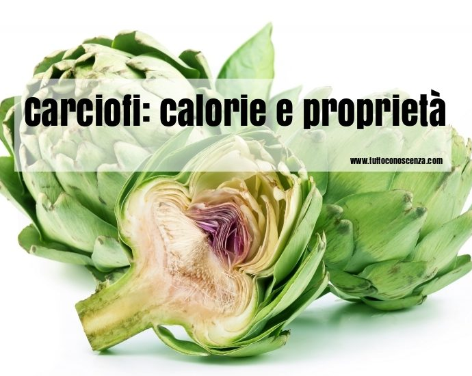 Carciofi calorie proprietà