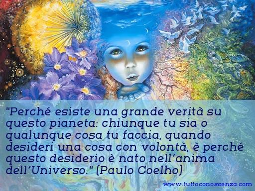 Frase di Paulo Coelho sull'Universo