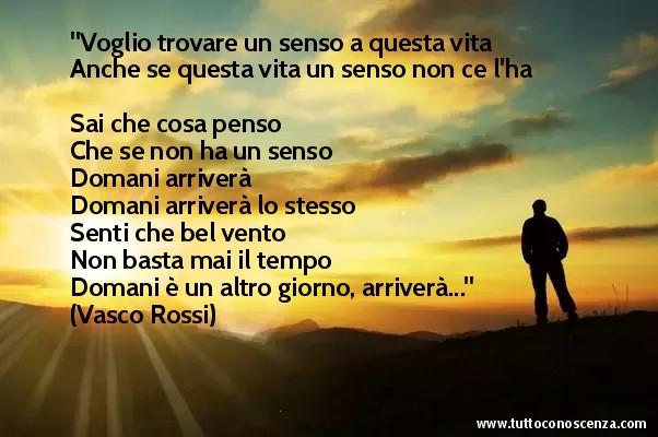 Frasi canzone Vasco Rossi - Un Senso