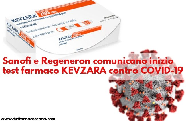 Kevzara Sanofi contro Coronavirus