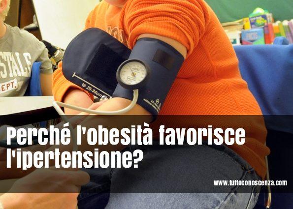 Obesità favorisce ipertensione