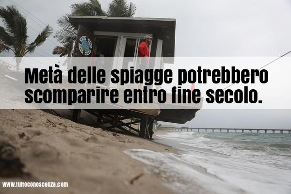 Spiagge scompaiono per erosione