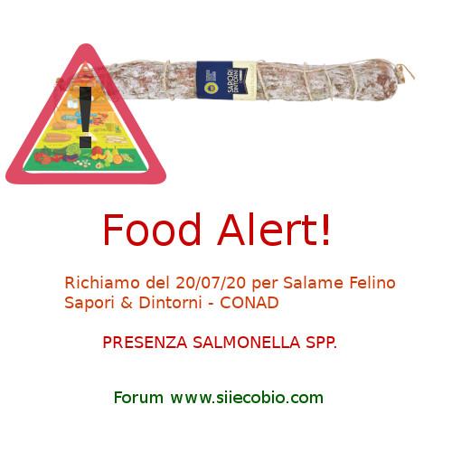 Conad Salame Felino richiamo