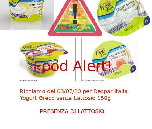 Despar Yogurt Greco richiamo
