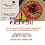 Allerta alimentare richiamo per Formaggella del Luinese DOP