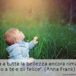 Aforisma del giorno di Anna Frank sulla bellezza