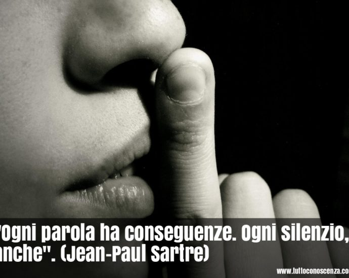 Frase del giorno di Sartre sui silenzi