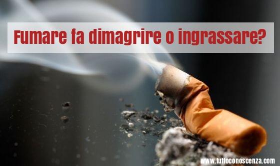 Fumare fa dimagrire o ingrassare?
