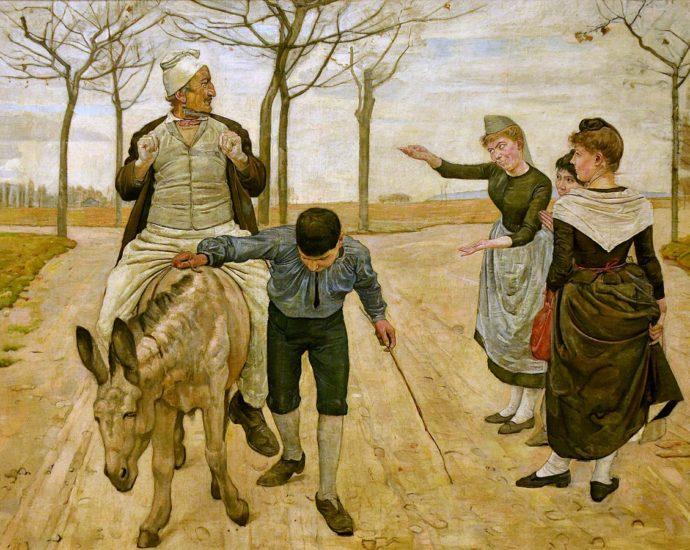 Il contadino, il figlio l'asino favola