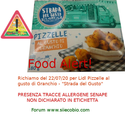 Richiamo Lidl Pizzelle al Granchio