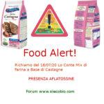Allerta alimentare: Lo Conte Mix a base Farina di Castagne richiamo per aflatossine