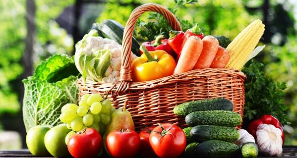 Porzioni frutta e verdura