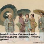 Proverbio giapponese del giorno