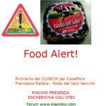Allerta alimentare: richiamo per Nodo del Saio Vaccino Caseificio Rabbia