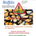 Allerta alimentare: richiamo Mitili o Cozze per biotossine