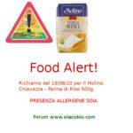 Allerta alimentare: richiamo Il Molino Chiavazza Farina di Riso
