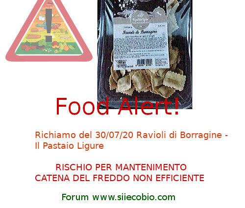 Il Pastaio Ligure Ravioli Borragine richiamo