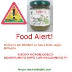 Allerta alimentare oggi: La Selva Pesto Vegan rischio microbiologico