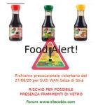 Allerta alimentare: richiamo per Suzi Wan Salsa di Soia