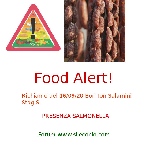 Allerta alimentare richiamo per Bon-Ton Salamini