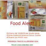 Allerta alimentare: richiamo Biscotti Giusto senza Glutine Cookie