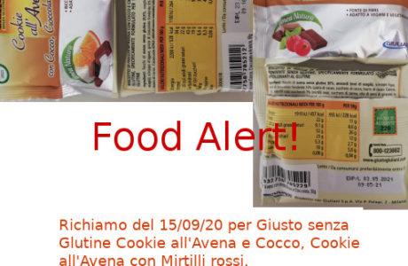 Allerta alimentare richiamo Giusto senza Glutine Biscotti