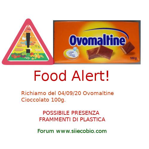 Allerta alimentare richiamo Ovomaltine