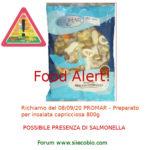 Allerta alimentare: richiamo per Promar Preparato per Insalata Capricciosa