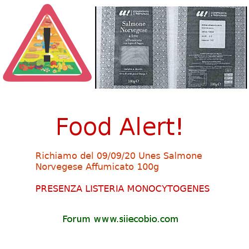 Unes Salmone Norvegese richiamo per Listeria