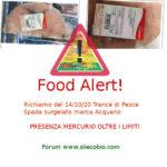 Allerta alimentare: richiamo per Trance di Pesce Spada Acquario