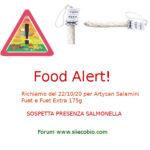 Allerta alimentare: richiamo Salamini Artysan Fuet e Fuet Extra