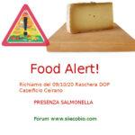 Allerta alimentare: richiamo Raschera DOP Caseificio Ceirano
