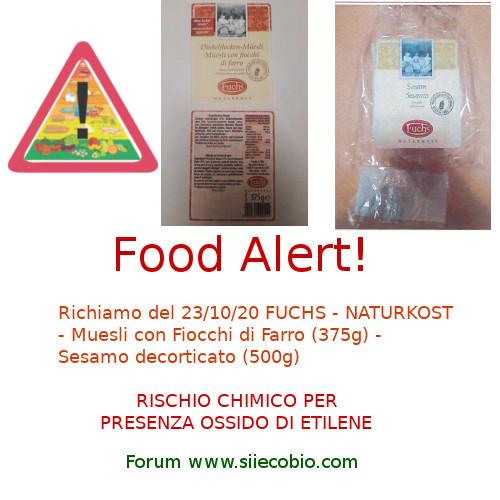 Allerta richiamo alimentare Fuchs Naturkost
