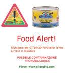 Allerta alimentare oggi: richiamo per Tonno Olio di Girasole Porticello.