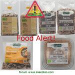 Allerta alimentare richiami per Semi sesamo Carrefour Bio, Cerreto Amanti del Biologico e Pam & Panorama