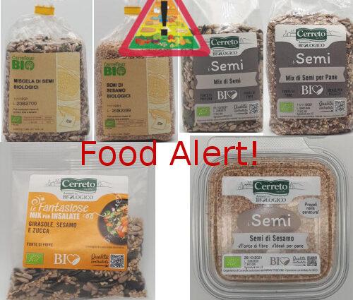 Allerta alimentare Semi Carrefour Bio Cerreto