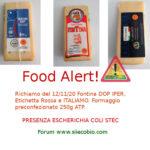 Allerta alimentare richiamo per Fontina DOP Iper, Etichetta Rossa e Italiamo Lidl