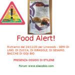 Allerta alimentare richiamo per Semi di Lino, Zucca, Sesamo Linwoods