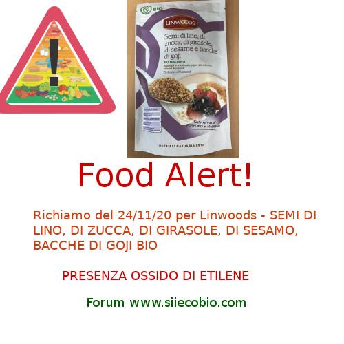 Allerta alimentare per Linwoods Semi Sesamo