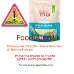 Allerta Alimentare: richiamo per Nuova Terra Semi di Sesamo biologici