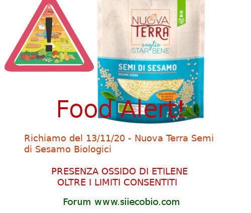 Allerta Alimentare Semi Sesamo Nuova Terra