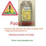 Allerta alimentare richiamo per Semi di Sesamo Bio - Padovana Macinazione