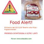 Allerta alimentare richiamo per Tarallini alla Pizza Puglialimentari