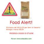 Allerta alimentare: richiamo per Semi di Sesamo biologici Selex