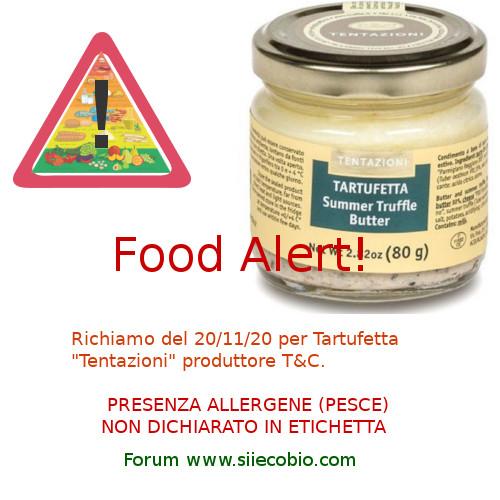 Tartufetta Tentazioni richiamo per allergeni