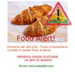 Allerta alimentare: richiamo per Toulon Croissanteria Cornetti 5 Cereali