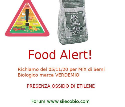 Allerta alimentare Mix Semi Bio Verdemio