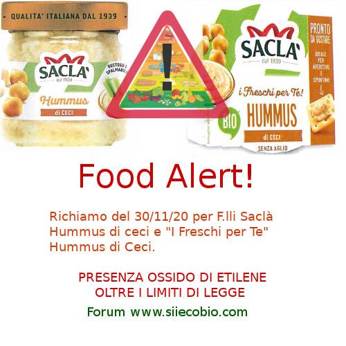 Hummus di Ceci F.lli Saclà richiamo